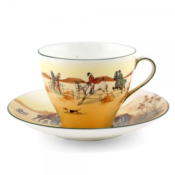 Hunting Large Cup and Saucer - Royal Doulton Seriesware