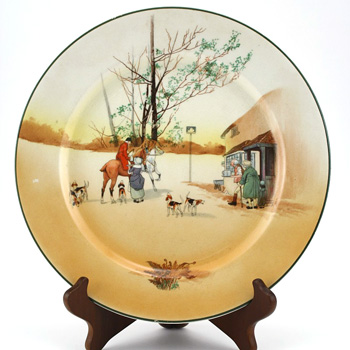 Hunting Plate 10''D - Royal Doulton Seriesware
