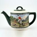 Hunting Teapot GreenandWhite - Royal Doulton Seriesware