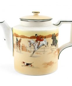 Hunting Teapot Yellow Body - Royal Doulton Seriesware
