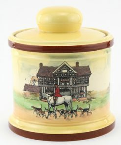 Hunting Tobacco Jar, Yellow - Royal Doulton Seriesware