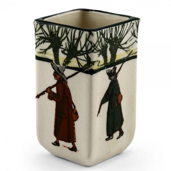 Izaac Walton Square Mini Vase - Royal Doulton Seriesware