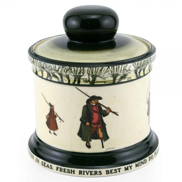 Izaac Walton Tobacco Jar - Royal Doulton Seriesware