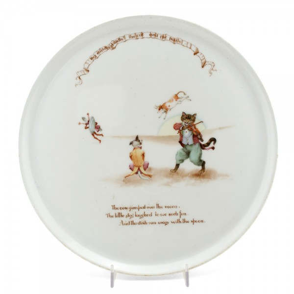Nursery Rhyme Tray Cat Fiddle - Royal Doulton Seriesware