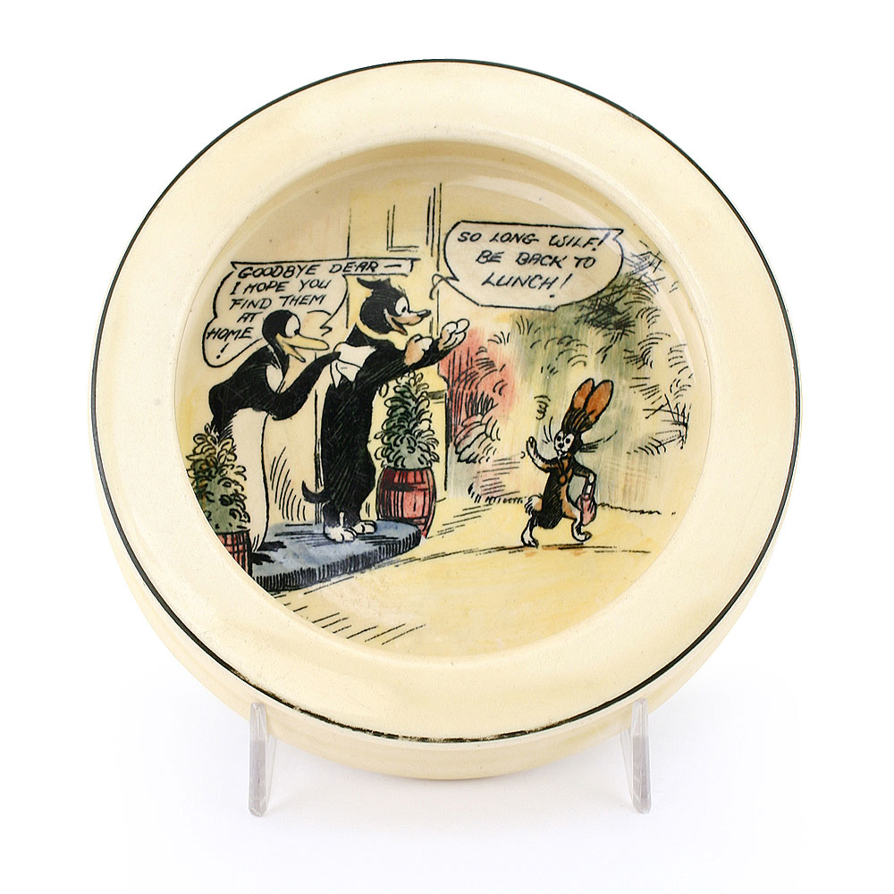 Pip Squeak and Wilfred Bowl - Royal Doulton Seriesware