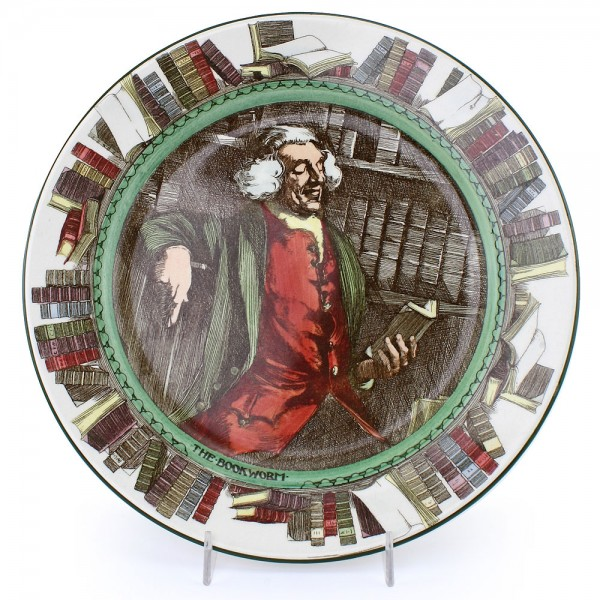 Professional Bookworm Plate - Royal Doulton Seriesware