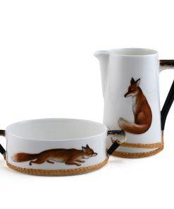 Reynard the Fox Sugar & Creamer set - Royal Doulton Seriesware