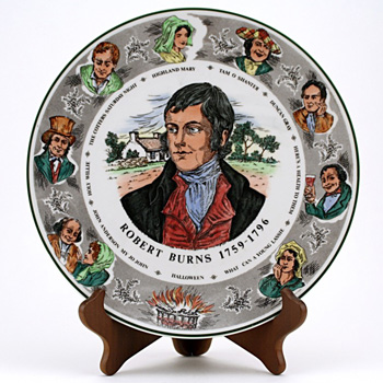 Robert Burns Plate 1St Version - Royal Doulton Seriesware