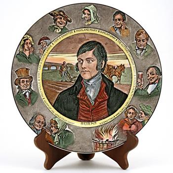 Robert Burns Portrait Plate 10'' - Royal Doulton Seriesware