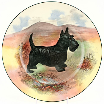 Scottish Terrier Plate - Royal Doulton Seriesware