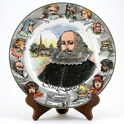 Shakespeare Portrait Plate 10'' - Royal Doulton Seriesware