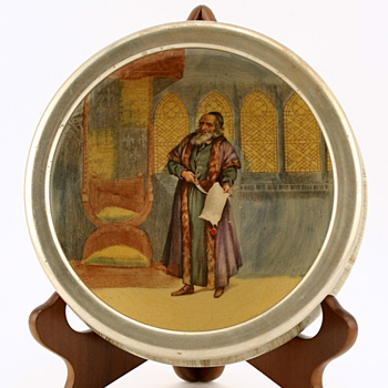 Shakespeare Shylock Bowl, Silver Rim - Royal Doulton Seriesware