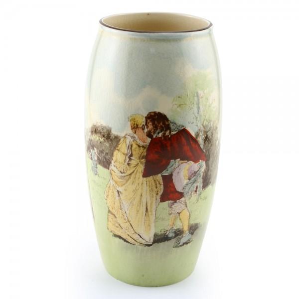Sir Roger de Coverley Vase, 8''H - Royal Doulton Seriesware