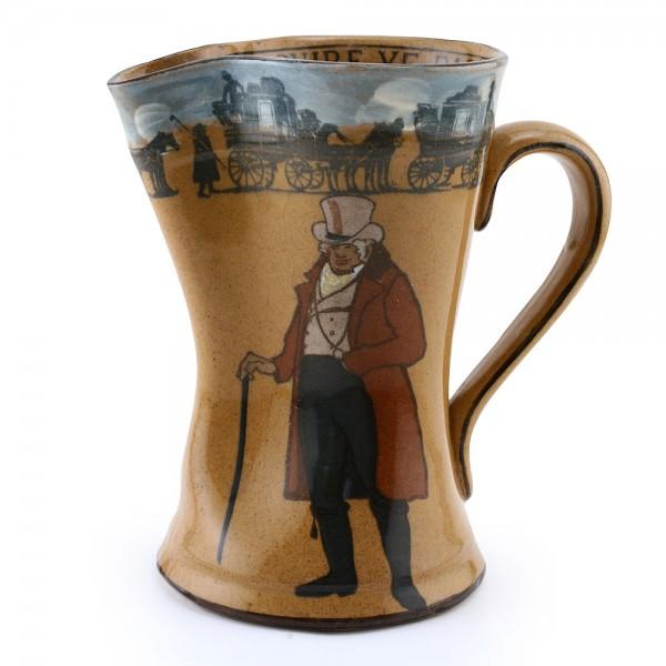 Ye Squire Ye Passenger Pitcher, brown - Royal Doulton Seriesware