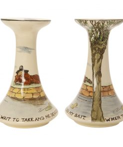 Gallant Fishers Candlestick Pair - Royal Doulton Seriesware