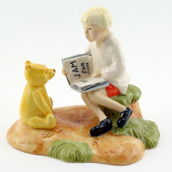 Christopher Reads To Pooh WP32 - Royal Doultoun Storybook Figurine