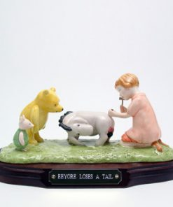 Eeyore Loses a Tail WP15 Tableau - Royal Doultoun Storybook Figurine