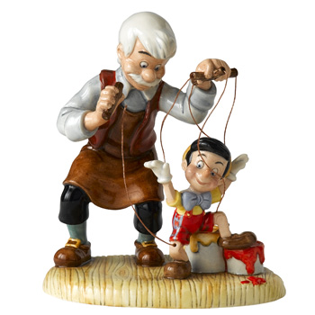 Geppetto and Pinocchio DM3 - Royal Doultoun Storybook Figurine