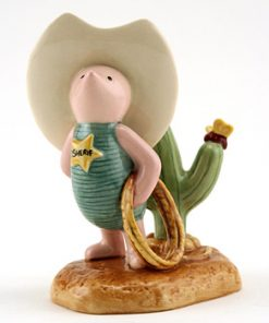 Howdy Sheriff Piglet WP89 - Royal Doultoun Storybook Figurine
