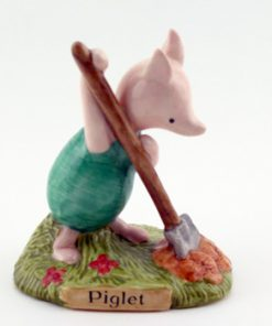 Piglet Planting A Haycorn WP26 - Royal Doultoun Storybook Figurine