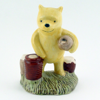 Pooh Counting The Honeypots WP12 - Royal Doultoun Storybook Figurine