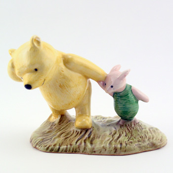Pooh and Piglet The Windy Day WP2 - Royal Doultoun Storybook Figurine