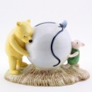Pooh's Blue Balloon Money Box WP16 - Royal Doultoun Storybook Figurine