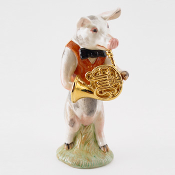 Richard The French Horn Player PP8 - Royal Doultoun Storybook Figurine