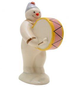 Bass Drummer Snowman DS9 - Royal Doultoun Storybook Figurine
