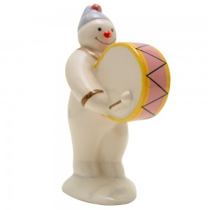 Bass Drummer Snowman DS9 - Royal Doultoun Storybook Figurine