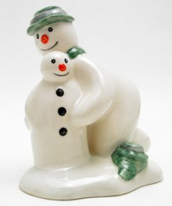 Building the Snowman DS23 - Royal Doultoun Storybook Figurine