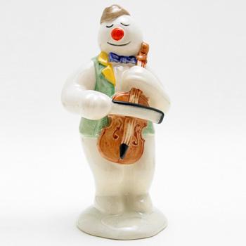 Cellist Snowman DS17 - Royal Doultoun Storybook Figurine