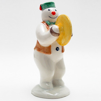 Cymbal Player Snowman DS14 - Royal Doultoun Storybook Figurine