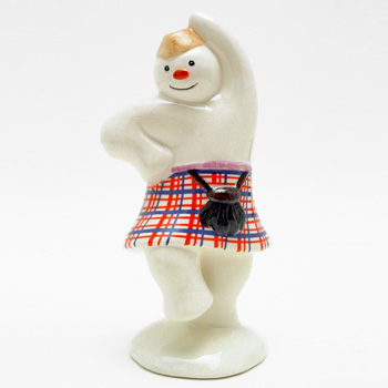 Highland Snowman DS7 - Royal Doultoun Storybook Figurine