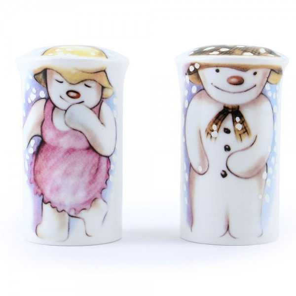 Snowman Salt Pepper Shakers - Royal Doultoun Storybook Figurine