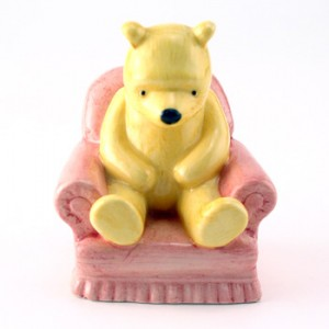 Winnie the Pooh In Armchair WP4 70 YEARS! - Royal Doultoun Storybook Figurine