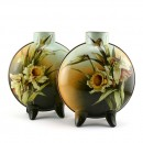 Faience Moonflask Vase Pair DA1 - Royal Doulton Vase