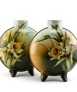 Faience Moonflask Vase Pair DA1 - Royal Doulton Vase