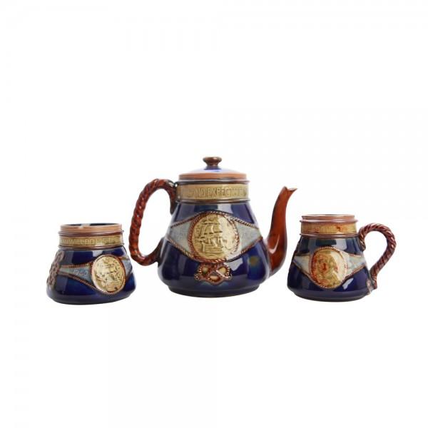 Lord Nelson Teaset  3 pc - Royal Doulton Stoneware
