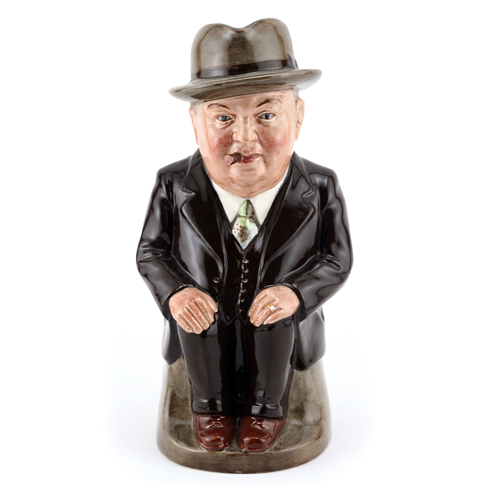 Cliff Cornell (Dark Brown Suit, Large) - Royal Doulton Toby Jug