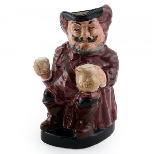 Falstaff D6063 (Small, Mug Away) - Royal Doulton Toby Jug