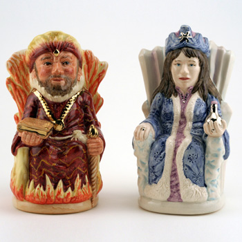 Fire King and Ice Queen Pair D7070/71 - Royal Doulton Toby Jug
