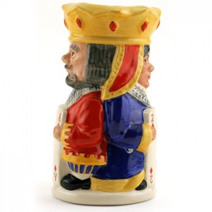 King and Queen Diamond D6969 - Royal Doulton Toby Jug