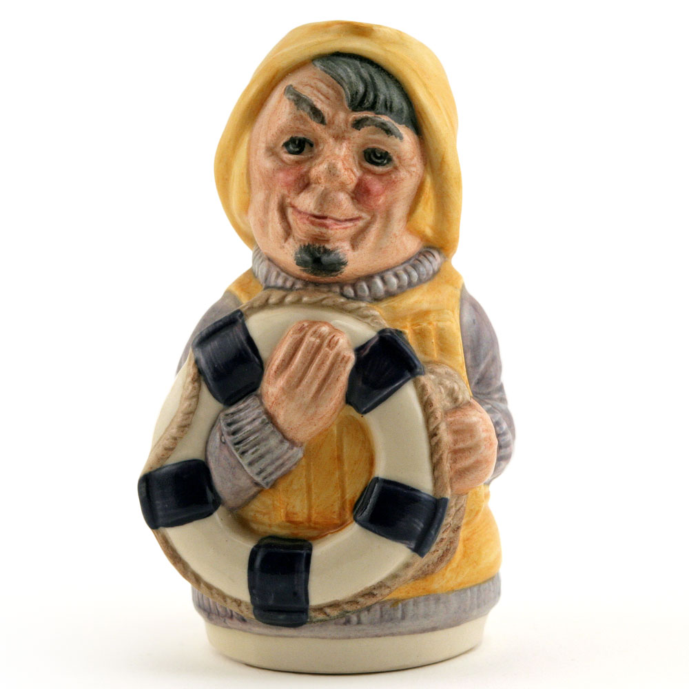 Len Lifebelt the Lifeboatman D6811 - Royal Doulton Toby Jug