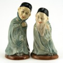 Spook and Bearded Spook Pair D7132/33 - Royal Doulton Toby Jug