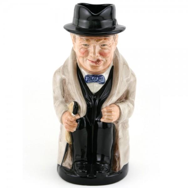 Winston Churchill Large D6171 (Bone China) - Royal Doulton Toby Jug