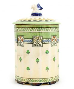 Lidded Barrel With Gryphon - Lustre Finish - Royal Doulton