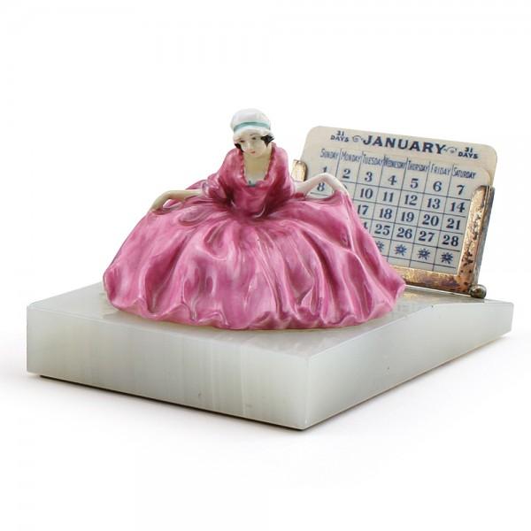 Polly Peachum Desk Calendar (Pink) - Royal Doulton