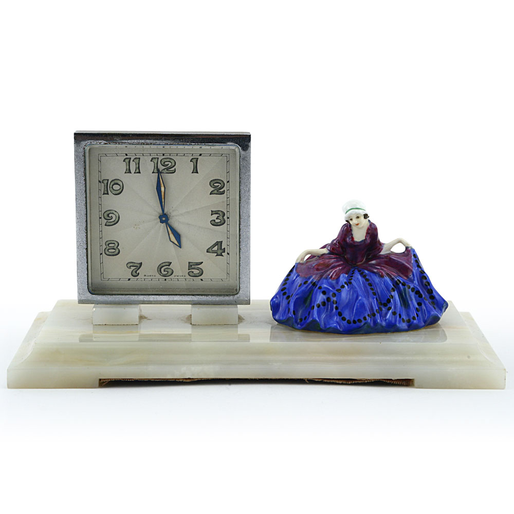 Polly Peachum Desk Clock - Royal Doulton