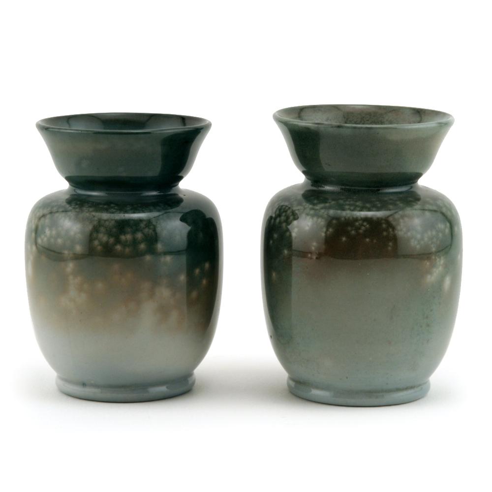 Titanian Vase Pair - Royal Doulton